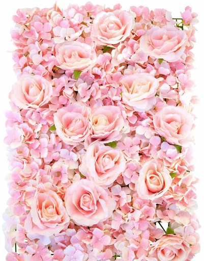 pink rose flower wall rentable for events