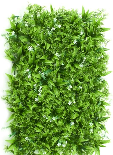 go green flower wall for eco friendly events