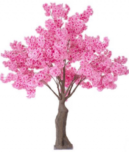 pink tree for weddings and events
