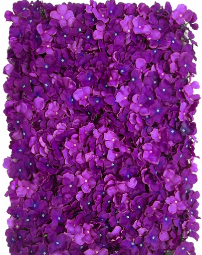 rent a purple flower wall for your wedding