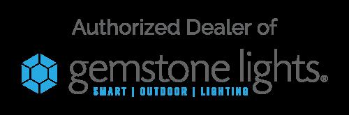gemstone lights logo with authorized dealer on it